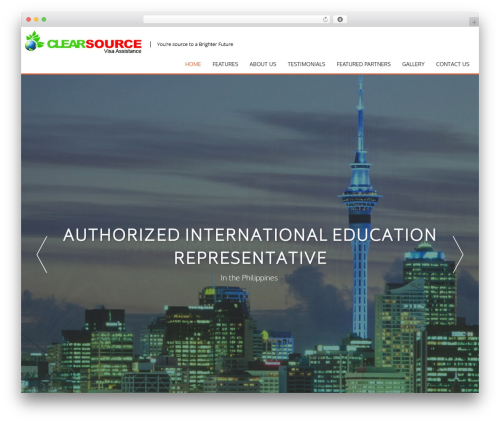 AccessPress Parallax free WordPress theme - clearsourcevisa.com