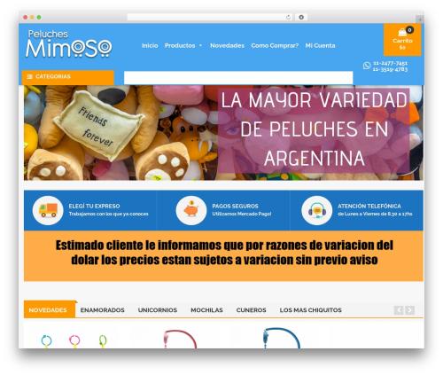 Caden WordPress theme design - peluchesmimoso.com.ar