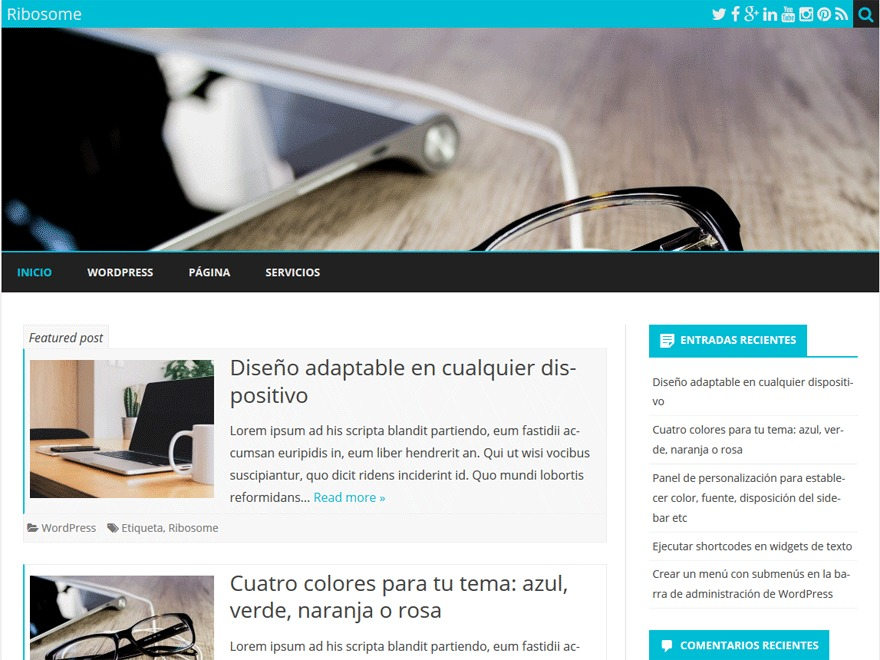 LifeNetNature Ribosome WordPress theme design