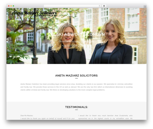 Bridge WordPress theme design - polski-adwokat-londyn.co.uk