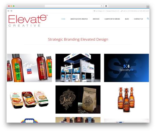 Conica business WordPress theme - elevatecreativeinc.com