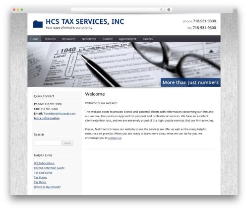 Customized business WordPress theme - hcstaxservices.com