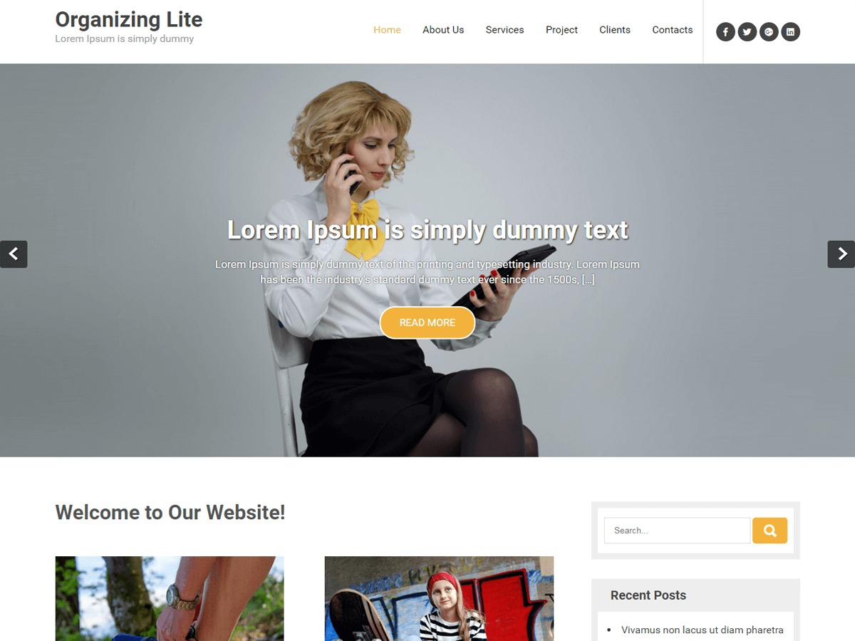 Organizing Lite WordPress blog template
