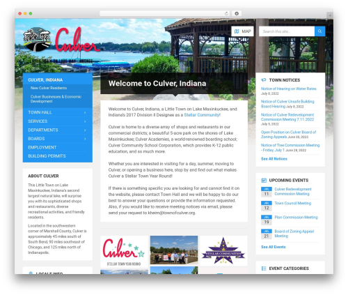 TownPress WP template - townofculver.org