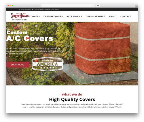 WordPress theme Bridge - sugarhousecustomcovers.com