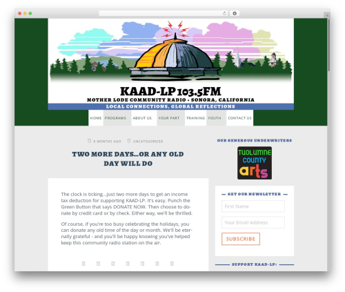 Best WordPress template KAAP-LP - kaad-lp.org