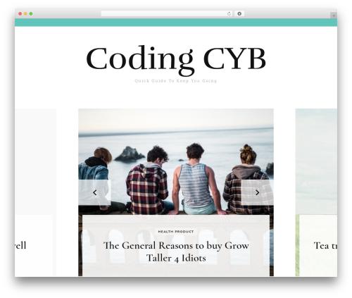 Blossom Fashion WordPress blog template - codingcyb.org