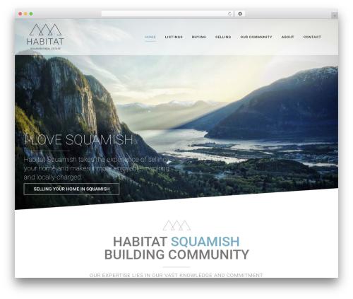 Bridge WordPress theme - habitatsquamish.com