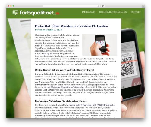 eyesite theme WordPress free - farbqualitaet.de
