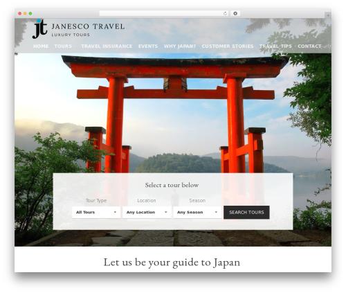 Flatsome WordPress travel theme - janescotravel.com