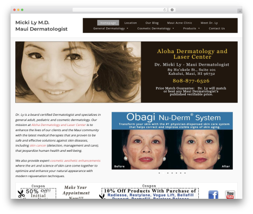 SiteOrigin Corp free WordPress theme - aloha-dermatology.com