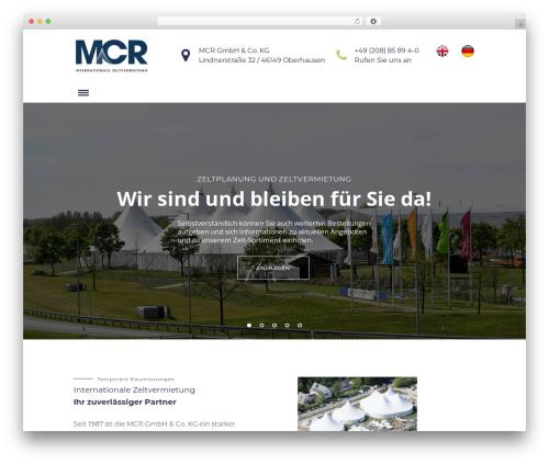Sunergy WordPress theme - mcr-zelte.de