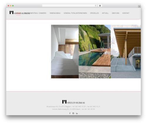 WordPress theme Chester - huerzeler-holz.ch