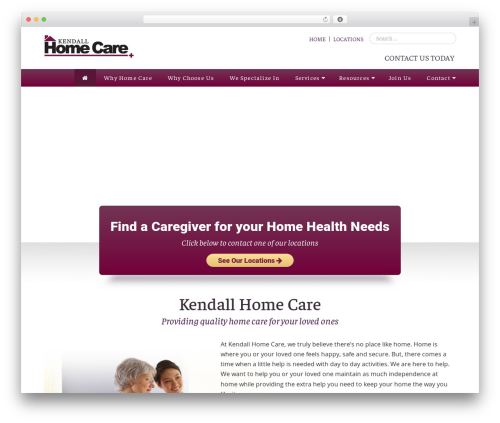 Heritage best WordPress theme - kendallhomecare.com