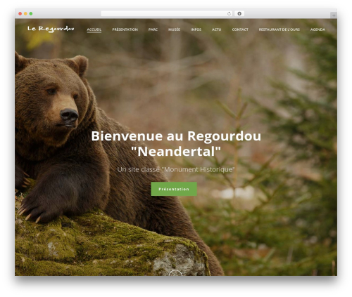 Jupiter premium WordPress theme - regourdou.fr