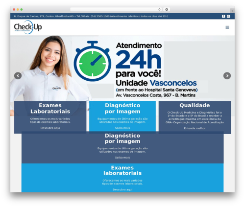 WordPress website template Jupiter - checkupmedicina.com.br