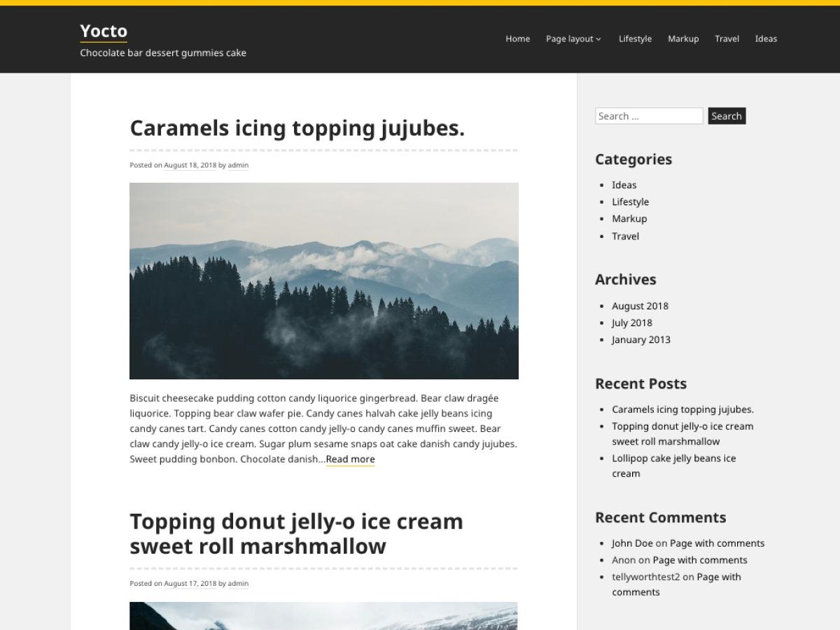 Yocto WordPress blog theme