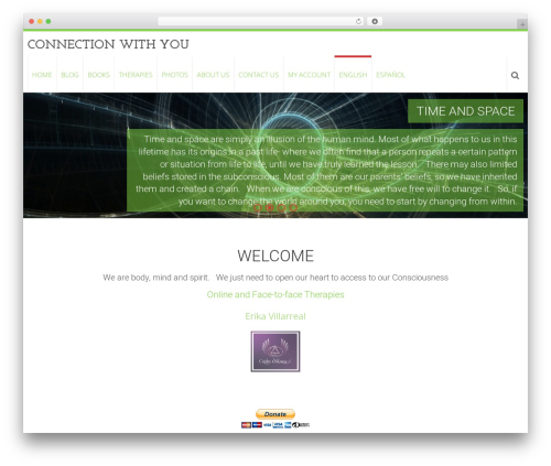 AccessPress Ray free website theme - connectionwithyou.com