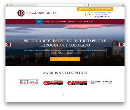 Altitude Pro best WordPress theme - donaldsonlaw.com