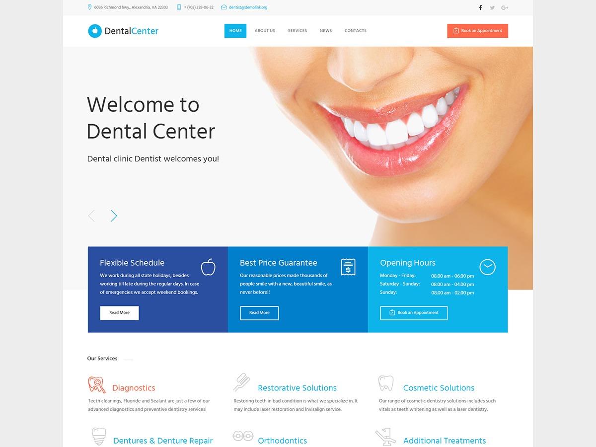 Dentalcenter medical WordPress theme