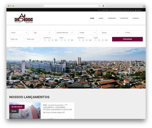 Vista Floripa theme WordPress - adiimoveis.com.br