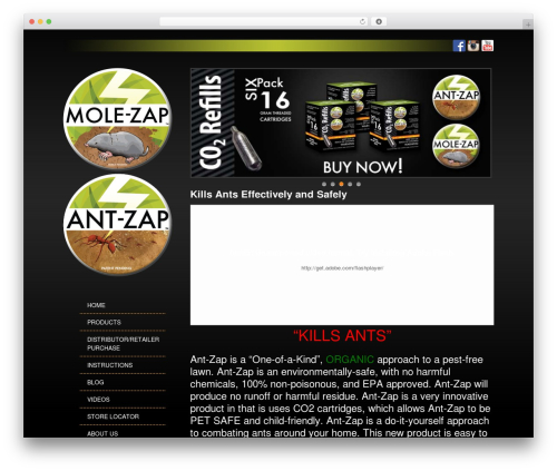 Free WordPress Easy Video Player plugin - mole-zap.com/kills-ants-effectively-and-safely