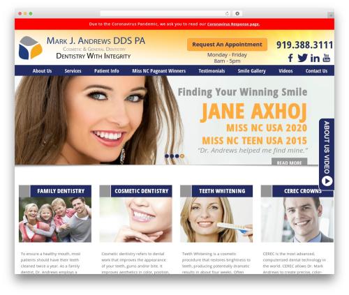 Cary Family Dentist best WordPress template - markandrewsdds.com