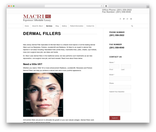 Enfold top WordPress theme - mymdaesthetics.com/dermal-fillers