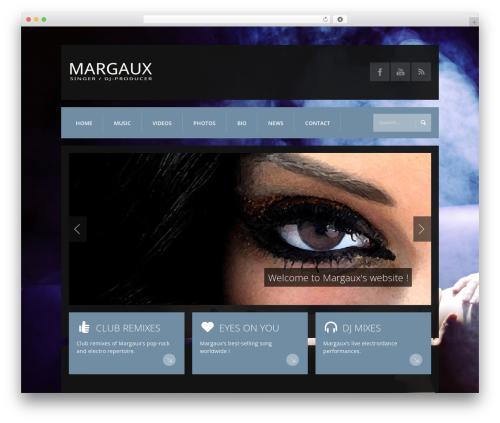 K-BOOM WordPress theme - margauxmusic.com