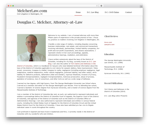 Law business WordPress template for business - melcherlaw.com