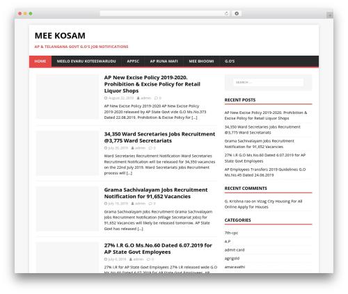 MH Magazine lite WordPress news theme - meekosam.co.in