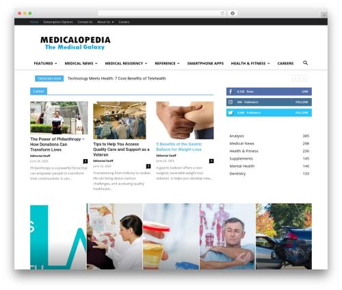 Newspaper premium WordPress theme - medicalopedia.org