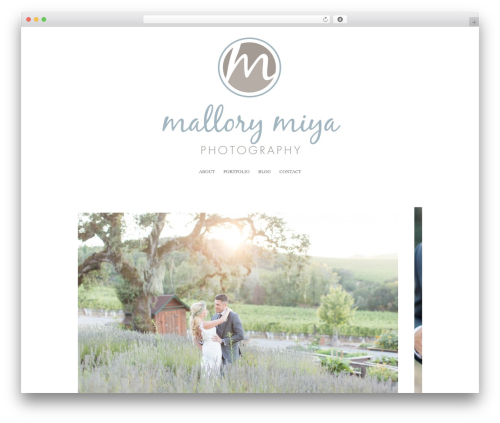 ProPhoto best WordPress template - mallorymiya.com
