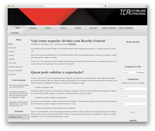 raindrops best free WordPress theme - tcacontabil.com.br