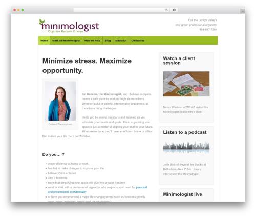 Responsive WordPress template free download - minimologist.com