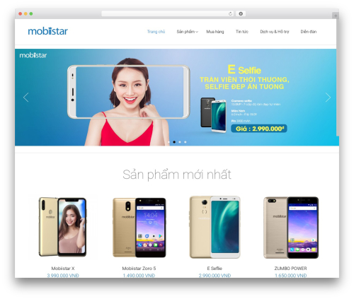 Satellite7 WordPress template - mobiistar.vn