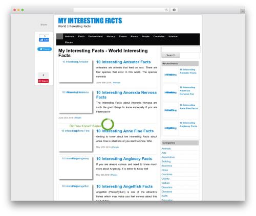 Simple Fast Responsive WordPress theme - myinterestingfacts.com