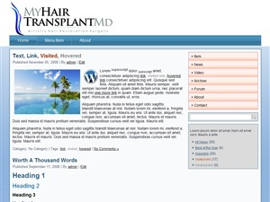 Template WordPress MyHairTransplantMD