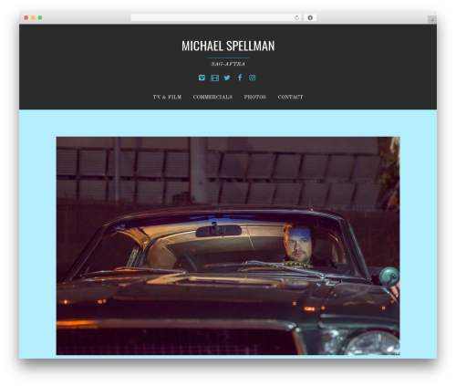 Themify Bold WP theme - michaelspellman.com