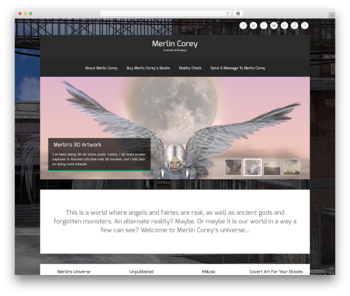 Theron Lite WordPress theme - merlin-corey.com