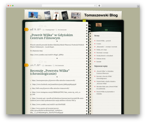 WordPress template Diary/Notebook - tomaszewski.edumuz.pl