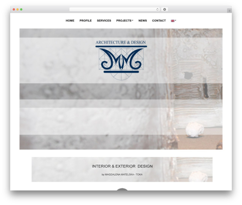 WordPress template True North - mmarchdesign.gr