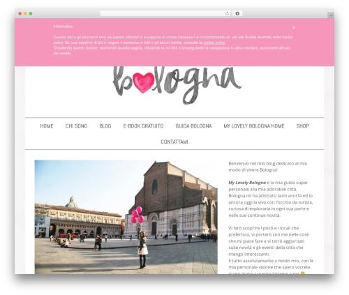 WordPress theme Jasmine Child Theme - mylovelybologna.com