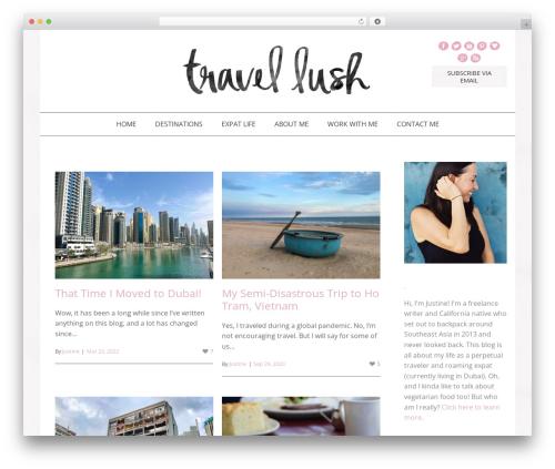 WordPress website template Jasmine - Premium - travel-lush.com