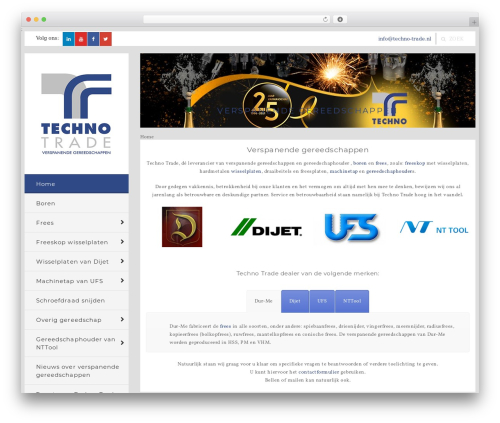 WP Bullet top WordPress theme - techno-trade.nl