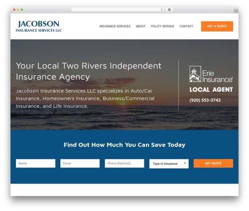 BrightFire Stellar business WordPress theme - jacobsoninsuranceservices.com