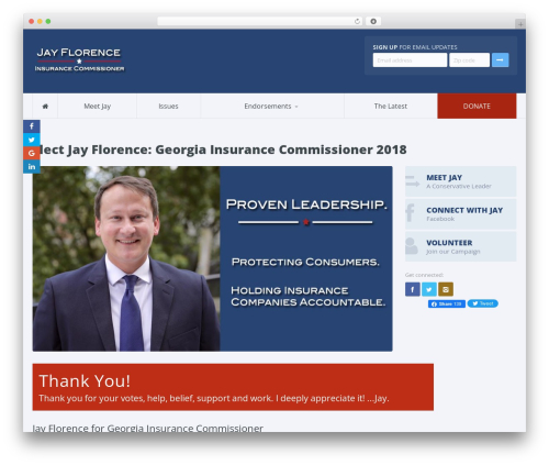 Candidate WordPress theme - jayflorence.com