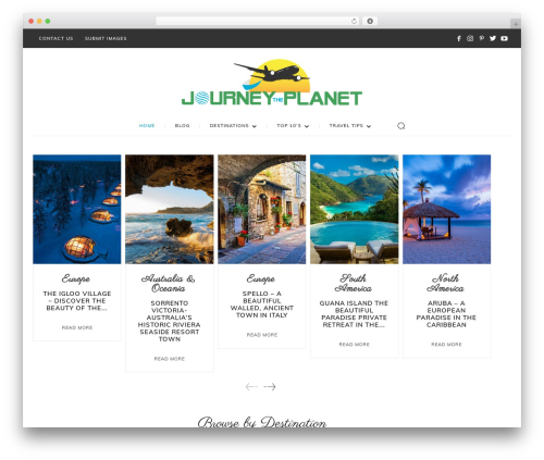 Newspaper WordPress news template - journeytheplanet.com