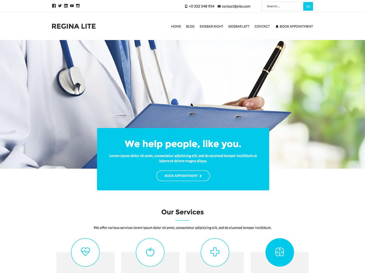 Regina Lite medical WordPress theme