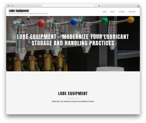 WordPress website template Blended - lube.equipment
